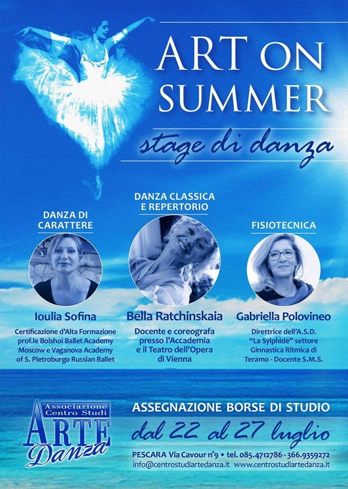 Art on Summer Stage Estivo 2019 Abruzzo Pescara Centro Studi Artedanza