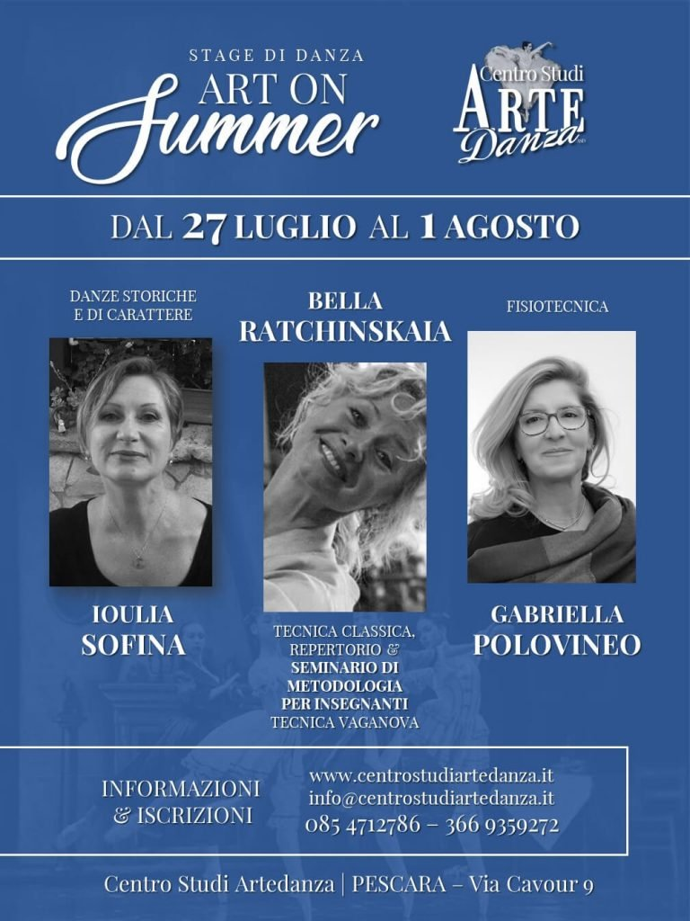 DANZA Stage Luglio 2020 Art on Summer